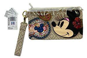 Disney Minnie Mouse Wristlet Clutch Purse Handbag Beads & Sequins Shanghai NWT