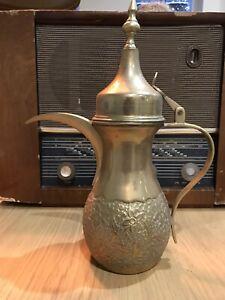 Antique Vintage Middle Eastern Brass Dallah Coffee Pot Saudi Arabia/Arabian
