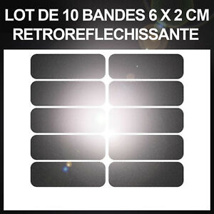 10-stickers-NOIR-Reflechissant-Velo-Cycliste-Securite-Visibilite-Adhesif-Nuit