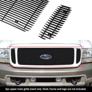 Fits 2000 2004 Ford Excursion W Logo Show Main Upper Black Billet Grille Insert Ebay