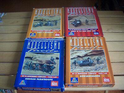 Italeri 4 Kit Esercito Tedesco Ww2, Scala 1/35 Ognuno Euro 12,50
