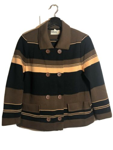 Vintage Goldworm Merino Wool Striped Cardigan Swea
