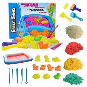 Magischer-Sand-4kg-Dino-Set-Kinetischer-Formbarer-Sand-Spielsand-Zubehoer