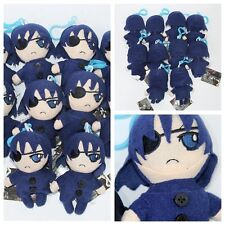 Cartoon Butler Kuroshitsuji Ciel Phantomhive Mini Plush Soft Bag Keychain Clip