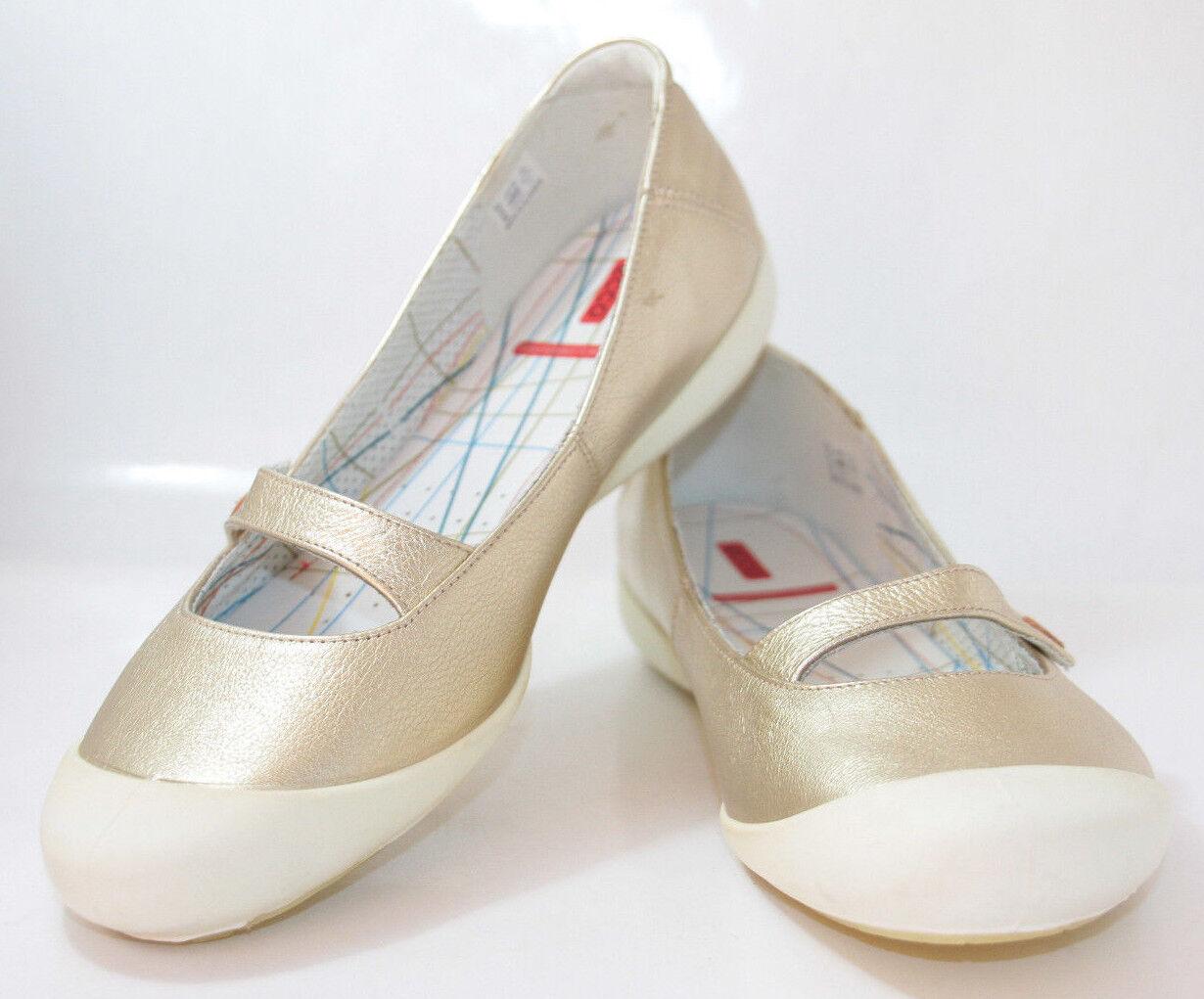 Chaussures Femmes ECCO 'Summer' doré métallisé Mary Jane Flats RESUN 11US 42EU nouveau