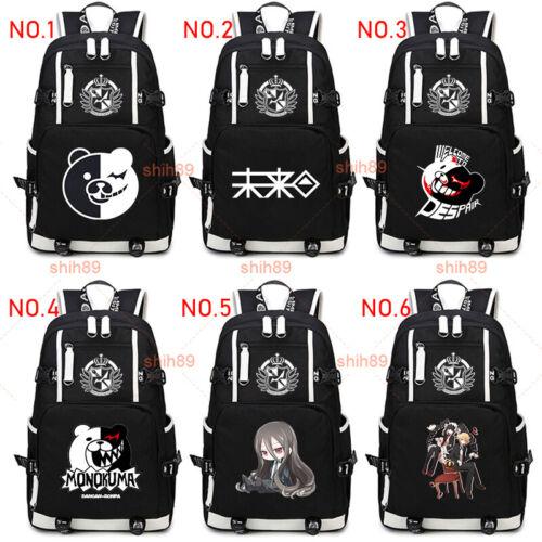 Anime Monokuma Danganronpa Shoulder Messenger Bag Laptop Satchel Schoolbag #444