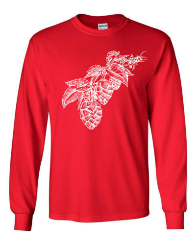 112 Hops Long Sleeve Shirt beer brewing lager lover drunk drink home brew retro