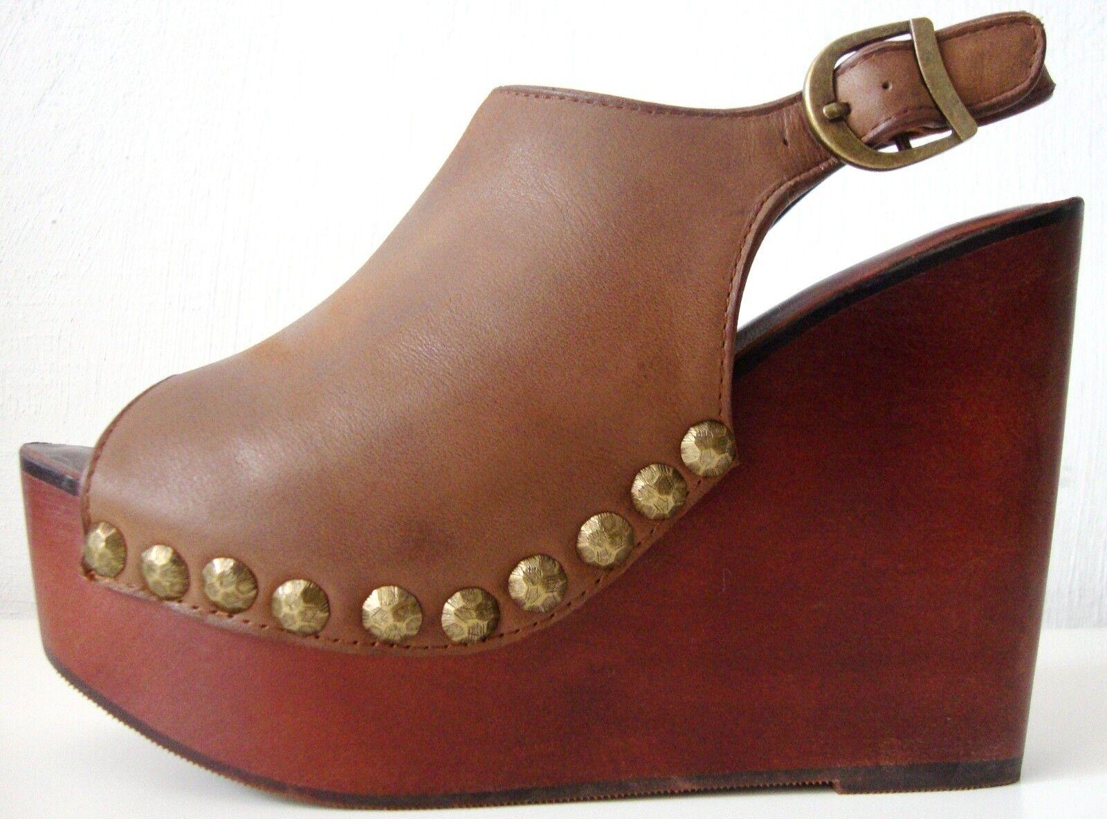 JEFFREY CAMPBELL SNICK STUD Schuhe Platform Sandales Damen Plateau Schuhe STUD Leder Gr39 NEU c86563