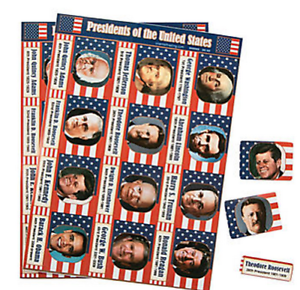 Pack-of-12-USA-President-Sticker-Sheets-Great-Party-Bag-Fillers