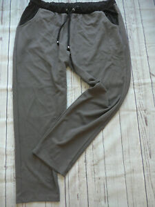 Sheego-Pants-Ladies-Jogging-Trousers-Stretch-Sweat-Size-40-to-58-Grey-Taupe-416