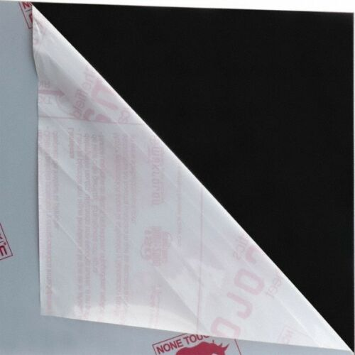 Polycarbonate Plastic Sheet Black Made in USA 48 x 24 x 1//8 Inch Rockwell R...