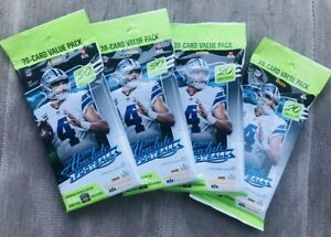 4x 2020 Absolute Football Value Cello Sealed Packs Burrow Tua Herbert ?