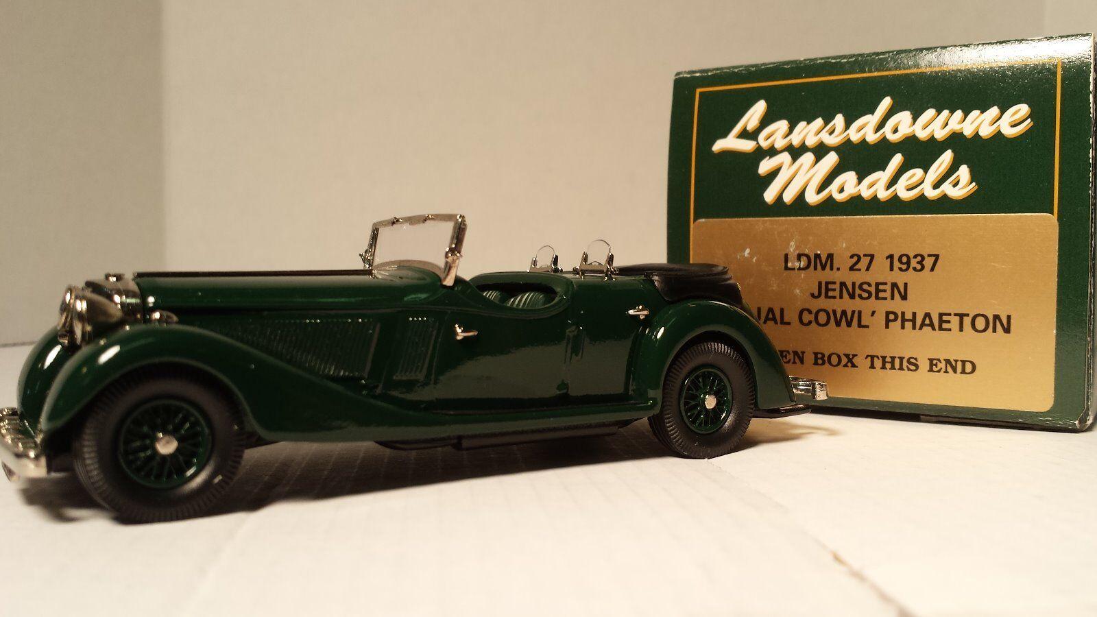 Lansdowne Brooklin Models LDM. 27 27 27 Jensen Dual Cowl Phaeton NEVER DISPLAYED 7152a5