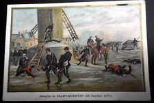 CHROMO Bataille de SAINT QUENTIN (18 Janvier 1871)