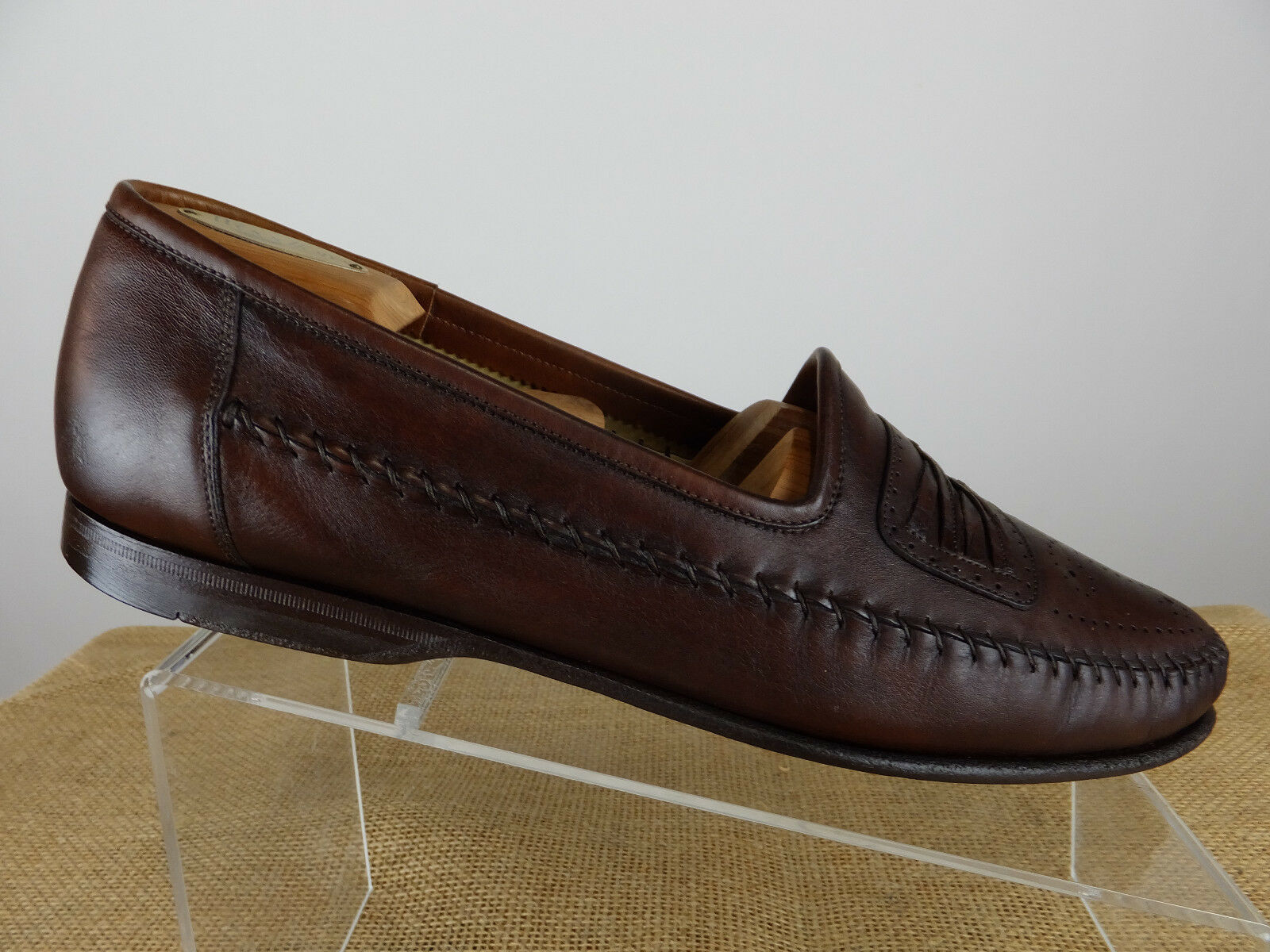 SANTONI Gator Leather Combo Medallion braun braun braun Venetian schuhe Men US 11.5 M IT 10.5 2ba293