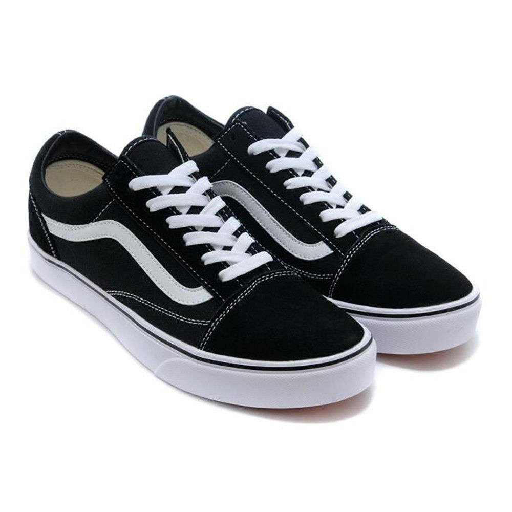 34d8d16249 Femmes Vans Old Skool Skate Noir Original Chaussures Shoes Classic canvas  suede