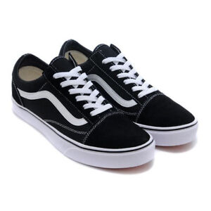 size 40 b9ca1 c499a Details about VAN Old Skool Skate Shoes Black/White All Size Classic Canvas  Sneakers UK3-UK9.5