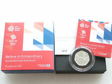 2016 Rio Olympic Team GB 50p Fifty Pence Silver Proof Coin Box Coa Error Cert