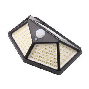 1-2-4-PCS-Jardin-Exterieur-100-LED-Lampe-Solaire-Capteur-de-Mouvement-PIR