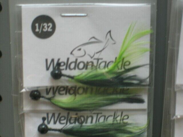 Lot Of 12 Weldon Mini Foo Jigs 1//64oz RED HEAD BLACK
