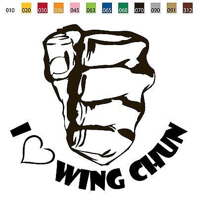 From USA - I LOVE WING CHUN Die Cut Vinyl Decal DIE CUT/IP MAN KUNG FU SP010