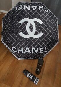 ????Parapluie Noir et Blanc (Chanel dior cc) vip Gift Automatique NEUF????