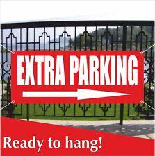 Extra Parking Right Arrow Banner Vinyl Mesh Banner Sign Car Park Parking Lot