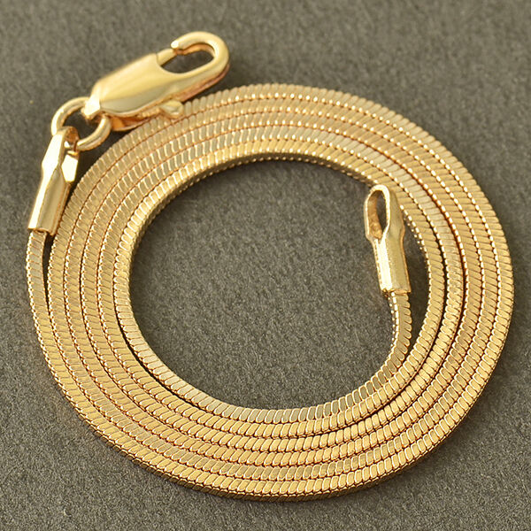 antique 9K Yellow Gold Filled Snake Womens/Unisex Chain 17.7'' long Necklace