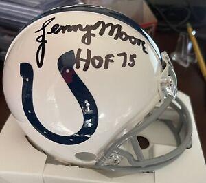 Lenny Moore Baltimore Colts Signed Autographed NFL Mini Helmet Tristar COA