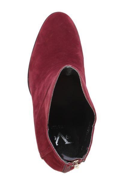 Nuevo  versace v1969 bertille burdeos cuero cuero cuero genuino botín botas pumps e3f879