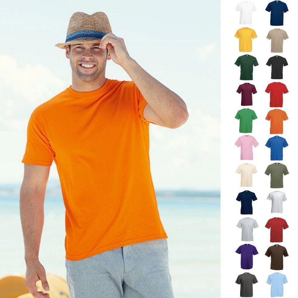 10 x Fruit of the loom Herren T-Shirt Valueweight Shirts Value Größe S-5XL | Merkwürdige Form  | Qualitätskönigin  | Bekannt für seine hervorragende Qualität
