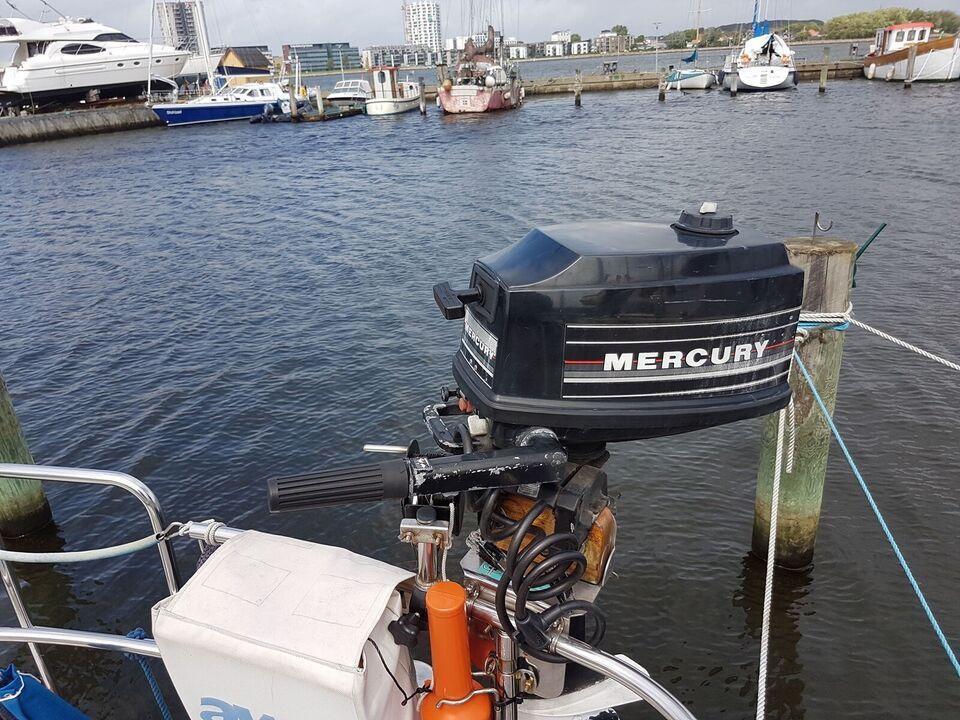 Mercury påhængsmotor, 4 hk, benzin