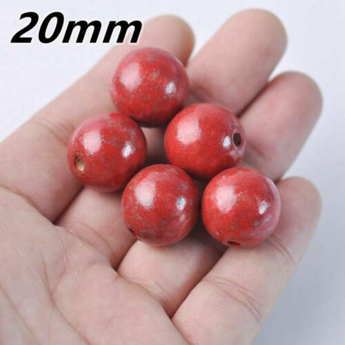 Round Natural Wood Loose Red Crafts Beads Wholesale lot 6//8//10//12//14//16//18//20mm