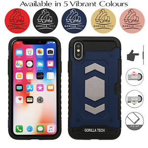 Real-Armour-Case-Hard-Back-Shockproof-Heavy-Duty-Cover-For-iPhone-8-7-6-Plus-XS