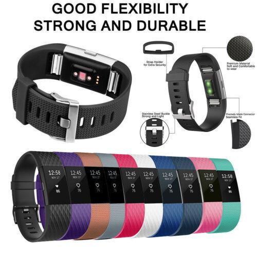 10er braccialetto di Ricambio Wristband per Fitbit LOTTO 2 Nastro Silicone Fitness LARGE de