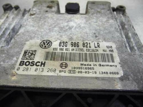 VW Passat B6 BXE 1.9 Tdi Engine Control Unit ECU 03G906021LR