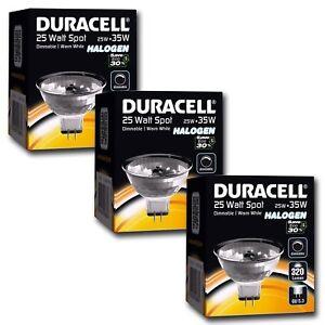 3-x-DURACELL-35W-50W-ECO-economie-d-039-energie-ampoule-MR16-halogene-12V-GU5-3