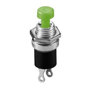 10-Stueck-Miniatur-Taster-gruen-EIN-Schliesser-Drucktaster-Stahl-Gehaeuse