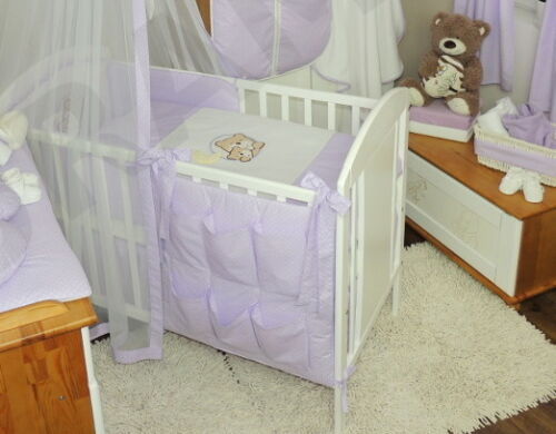 Lovely BABY Nursery COT TIDY //ORGANIZER to fit cot or cotbed