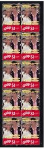 GREASE-TRAVOLTA-amp-NEWTON-JOHN-STRIP-OF-10-MINT-VIGNETTE-STAMPS