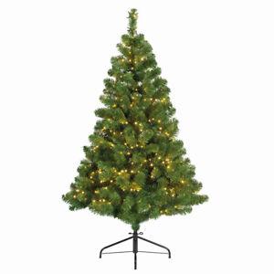 Weihnachtsbaum-150-cm-Tannenbaum-mit-400-LED-Lichterkette-8-Funktionen-Timer