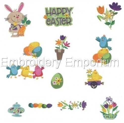 MACHINE EMBROIDERY DESIGNS ON CD OR USB COTTONTAIL EXPRESS COLLECTION