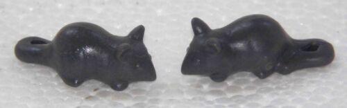 2 Mice Dark Playmobil to Mouse Knight Pirates Animals Western Farm Zoo 1452