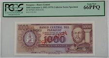 L1952(1979) Paraguay 1000 Guaranies Specimen Note SCWPM#201b-CS1 PCGS 66 PPQ Gem