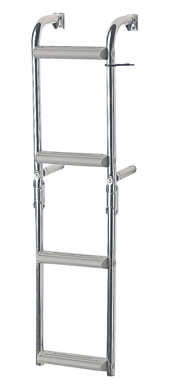 Lalizas  Nuova Rade Edelstahl Badeleiter für für für schmalen Spiegel 2 Größen klappbar 03c1a2