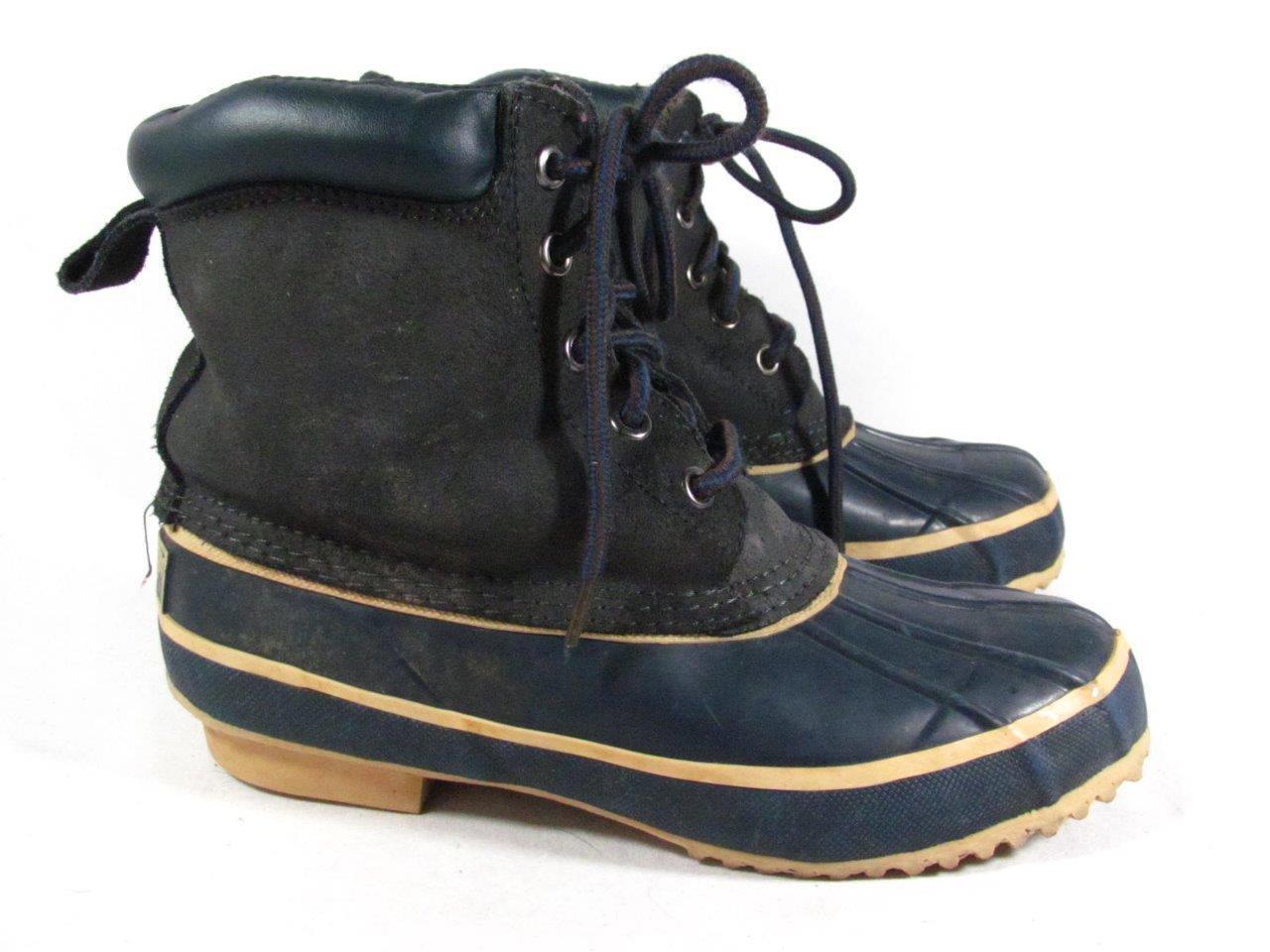 Vintage Western Chief m Duck Snow Boot Women size 7 m Chief Navy Suede 665696