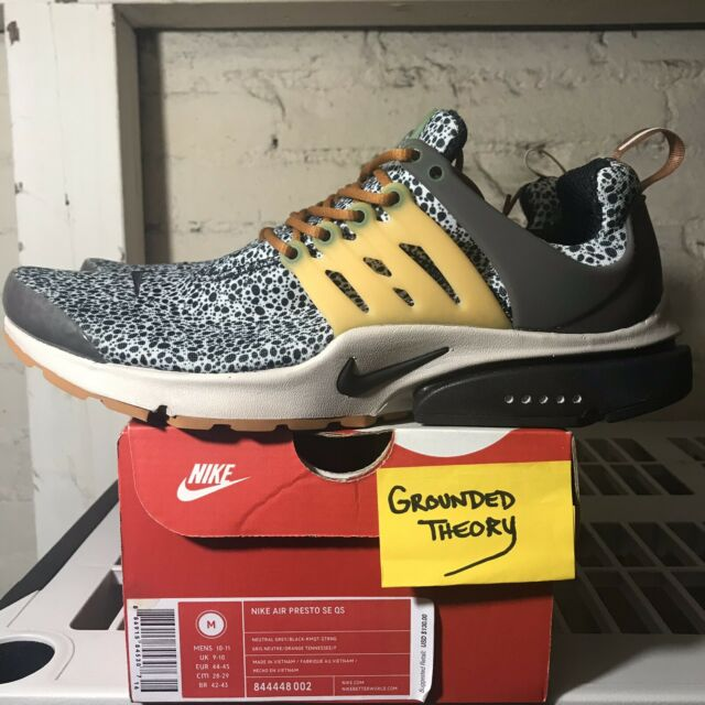 DS 2016 Nike Air Presto SE QS Safari (844448 002) Sz M 10 11 Kumquat