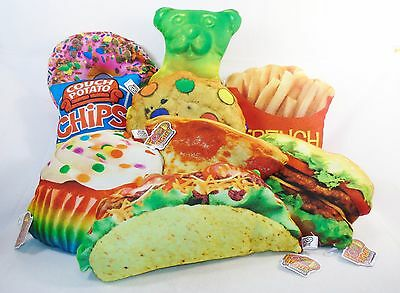 Food Fight Pillows ~ Colorful, Soft, Decorative, Realistic ~ Fun For Everyone!