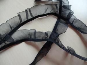 1-20-m-Gummiband-elastische-Rueschengummi-Ruesche-schwarz-3mx25mm