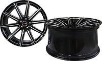 4 Gwg Wheels 20 Inch Staggered Black Mill Mod Rims Bmw 3 Series 2 Door (e46)2006